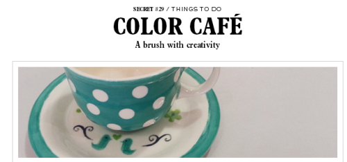 Get Creative at the Color Cafe